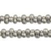 Bow Beads (Farfalle) 3.2x6.5mm Steel Metallic Terra-dyed Opaque